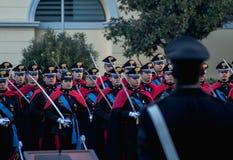 Parate da polícia em roma foto de stock royalty free