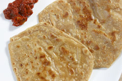Paratha is a flatbread from India Royalty Free Stock Photos
