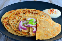 Paratha flatbread Royalty Free Stock Images