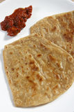 Paratha is a flatbread that originated in India Royalty Free Stock Images