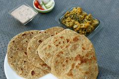 Paratha is a flatbread that originated in India Royalty Free Stock Photo