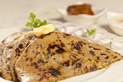 Paratha with ghee from India Royalty Free Stock Photography