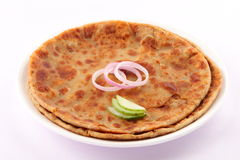 Paratha indiano del pane-Aloo Immagini Stock