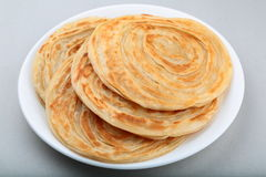 Parathas. Crispy wheat parathas ,a popular flat bread in Asia Stock Image