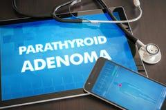 Parathyreoid- Diagnose des Adenoma (endokrine Krankheit) medizinisches concep Stockfoto