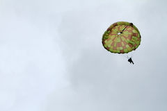 Paratrooper airshow Royalty Free Stock Photo