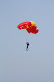 Paratrooper on airshow. Royalty Free Stock Photography