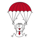 Paratrooper businesswoman Stock Photography