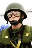 Paratrooper dummy. At an airshow Royalty Free Stock Images
