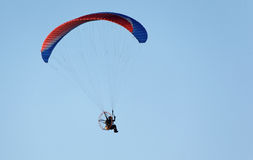 Paratrooper flying in the sky Stock Images
