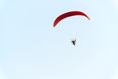 Paratrooper flying in the sky Royalty Free Stock Image