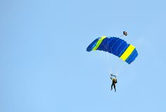 Paratrooper on landing Stock Photography