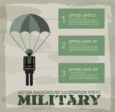 Paratrooper military infographics background. Stock Image