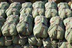 Paratrooper parachutes Royalty Free Stock Photos