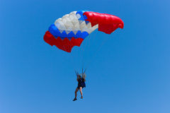 Paratrooper. In the sky,Romania 2014 Royalty Free Stock Photography