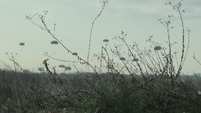 Paratroopers stock video footage