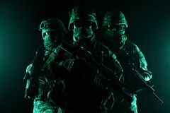 Paratroopers airborne infantry Stock Images