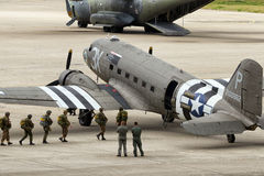 Paratroopers Dakota DC-3 Royalty Free Stock Image