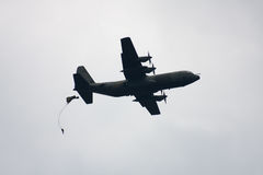 Paratroopers drop during the 72th commemoration of operation Market Garden Royalty Free Stock Images