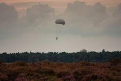 Paratroopers drop during the 72th commemoration of operation Market Garden Stock Image