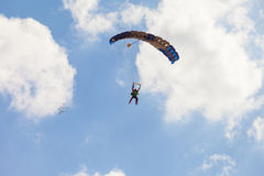 Paratroopers floating Royalty Free Stock Photography