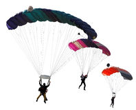Paratroopers on an isolated Royalty Free Stock Image