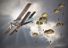 The Paratroopers. Royalty Free Stock Photos