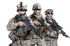 Paratroopers Royalty Free Stock Photography