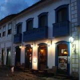 Paraty, Бразилия на ночном времени Стоковая Фотография RF