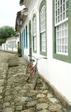 Paraty. Door and Bicycle, Paraty, Brazil royalty free stock photo