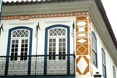 Paraty. Old house detail in Paraty, a historical city in Rio de Janeiro, Brazil royalty free stock photo