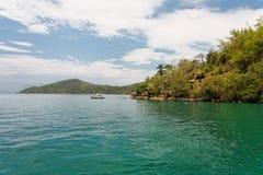 Paraty Bay and Boat Rio de Janeiro Brazil Royalty Free Stock Image