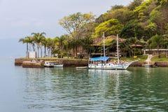 Paraty Bay and Boats Rio de Janeiro Brazil Stock Photography