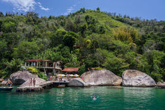 Paraty Bay Tropical Beach Royalty Free Stock Photos