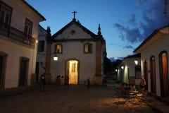 Paraty, Brazylia przy porą nocną fotografia royalty free