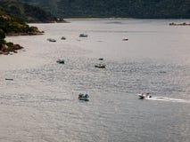 Paraty fiskebåtar Arkivfoto