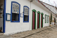 Paraty Historical Building in Rio de Janeiro Brazil Royalty Free Stock Images