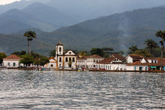 Paraty Historical City Santa Rita Church Stock Photo