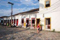 Paraty Historische Huisvesting Rio de Janeiro royalty-vrije stock foto