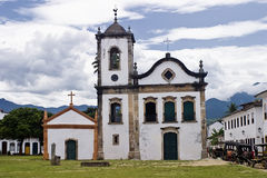Paraty Igreja de Santa Rita. Front of church Sta.Rita, Paraty, Rio de Janeiro, Brasil Royalty Free Stock Images