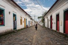 Paraty Rio de Janeiro de construction historique Photos stock
