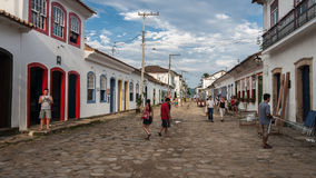 Paraty Rio de Janeiro de construction historique Photographie stock