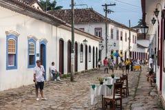 Paraty Rio de Janeiro de construction historique images libres de droits