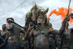 Bloco da Lama in Paraty, Rio de Janeiro State, Brazil Carnival royalty free stock image