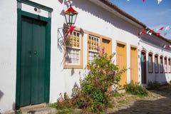 Paraty village, Rio de Janeiro, Brazil. Paraty, a colonial village with portuguese architecture, Brazil Royalty Free Stock Photography