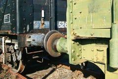 Paraurti di coppia del vecchio treno merci Fotografie Stock