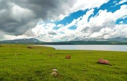 Paravani Lake in Georgia Stock Photos