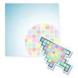 Parawanowy koloru piksel Obraz Royalty Free