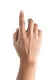 parawanowy ręki macanie Fotografia Stock