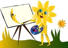 parawanowy słońce Zdjęcie Royalty Free